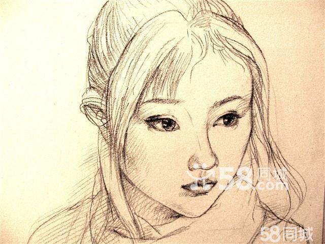 人物素描头像 女生简单图片